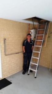 Attic ladder safety