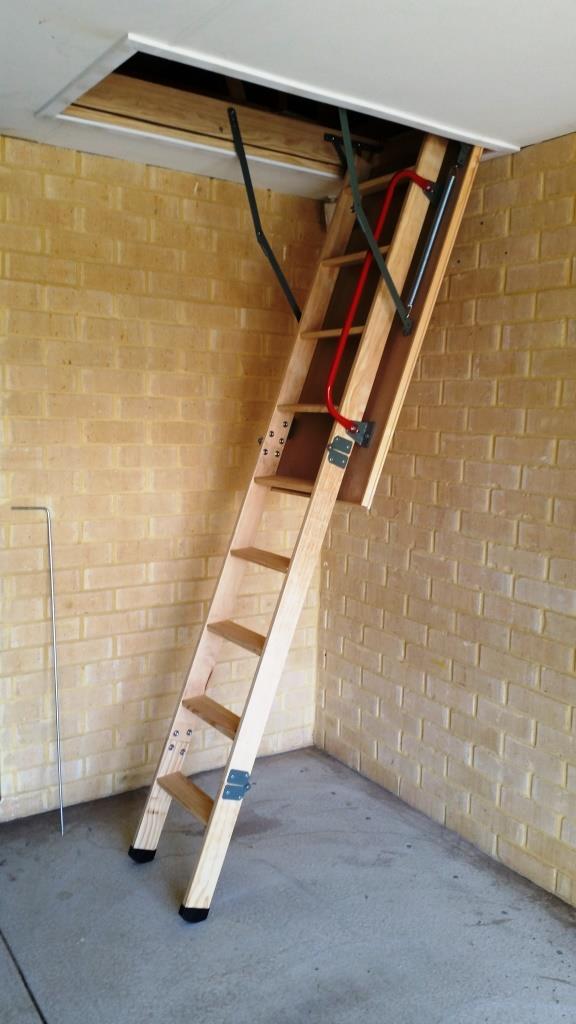 Garage attic storage installed by attic lad wa attic for Garage attic storage