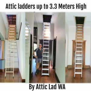 loft ladders with handrail