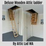 delux wooden attic ladder