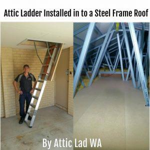 Attic Ladder Install -Steel Frame Roof
