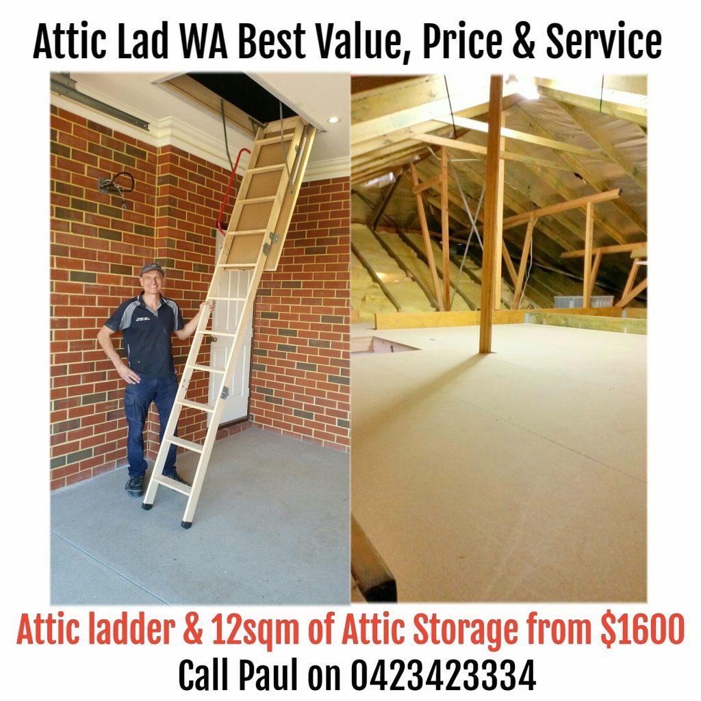 Attic Storage Perth   Attic Lad WA   Dust Proof Attic Storage Rooms