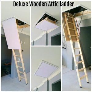 deluxe wooden attic ladder