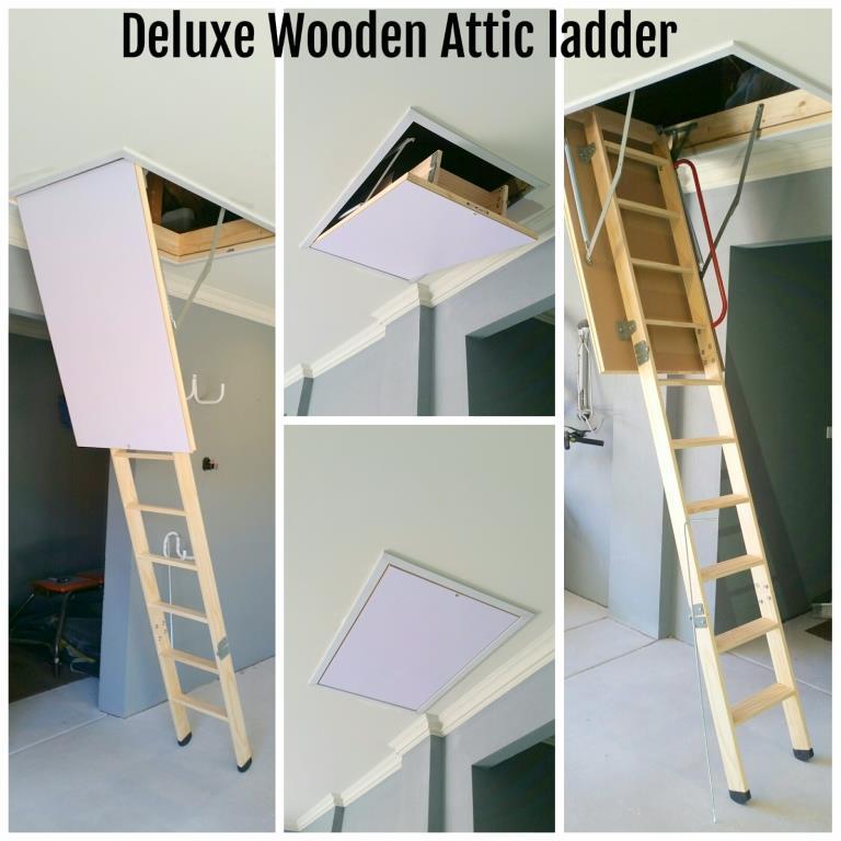 Attic loft ladder supplier perth wa deluxe wood the deluxe wood attic ladder solutioingenieria Images